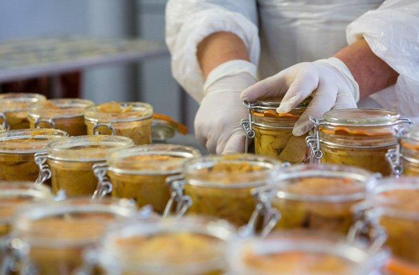Bocaux de foie gras des artisans conserveurs