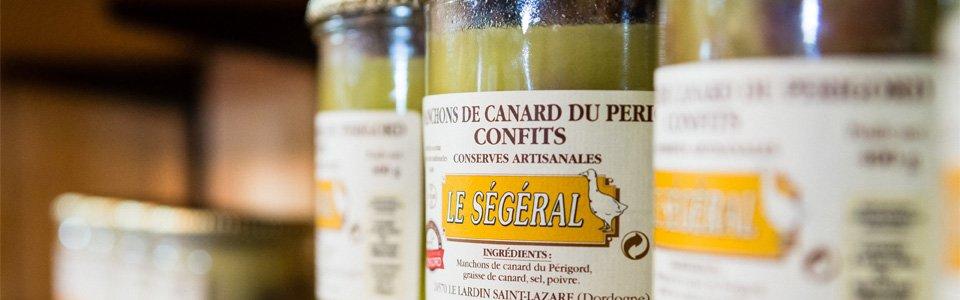 Extrait de gamme Le Ségéral, artisan conservier