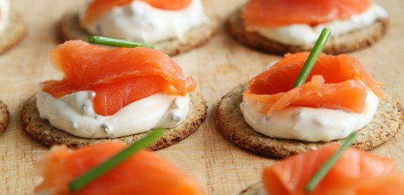 Photo représentant des amuses-bouches au saumon fumé - Photo pixabay.com