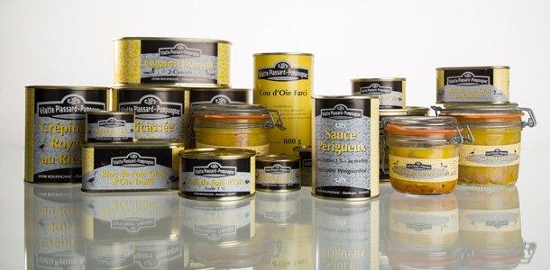 Extrait de la gamme Vilatte Plassard Pompougnac, artisan conserveur en Dordogne